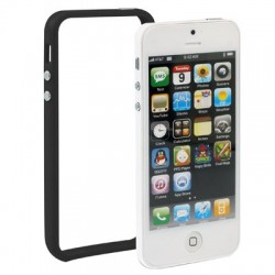 Plastik Bumper med knapper til iPhone 5 - SORT