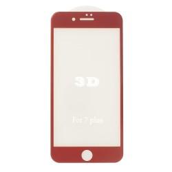 iPhone 7 / 8 Beskyttelsesglas Full Coverage 3D 9H - Rød