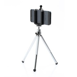 Universal Aluminum Tripod Stand Camera Holder for iPhone Samsung HTC Sony etc., Range: 5-8cm