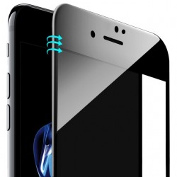 iPhone 6 / 6S Beskyttelsesglas Full Coverage 4D 9H - Sort