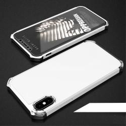 Apple iPhone X COCOSE Kylin Aftageligt 3-i-1 Plastik Cover Hvid / Sølv