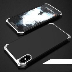 Apple iPhone X COCOSE Kylin Aftageligt 3-i-1 Plastik Cover Sort / Sølv