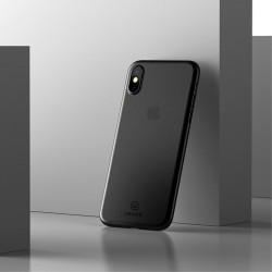 Apple iPhone X USAMS Soft Ulvratynd Plastik Cover Sort