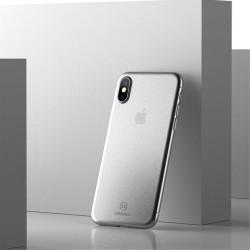 Apple iPhone X USAMS Soft Ulvratynd Plastik Cover Hvid