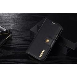Apple iPhone X DG.MING 2-i-1 Læder Pund med Magnetisk Aftageligt Bagcover Sort