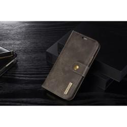 Apple iPhone X DG.MING 2-i-1 Læder Pund med Magnetisk Aftageligt Bagcover Grå