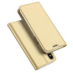 Apple iPhone X DUX DUCIS Læder Pung Guld