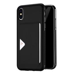iPhone X / XS DUX DUCIS Procard Læder Cover med Integreret Kortholder Sort