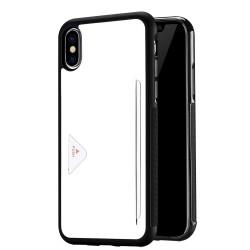 Apple iPhone X DUX DUCIS Pocard Læder TPU Bagside med kortspalte Cover Hvid