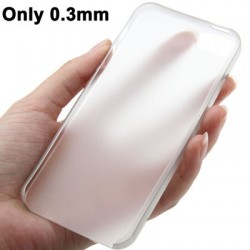 0.3 mm Ultra Tynd Polycarbonate TPU Cover til iPhone 5/5S - Transparent