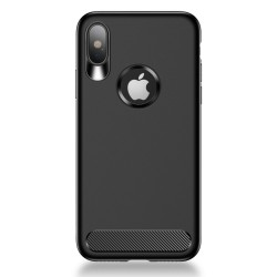 Apple iPhone X USAMS Muze Anti-fingeraftryk TPU Bagcover Sort