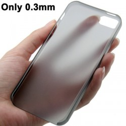 0.3 mm Ultra Tynd Polycarbonate TPU Cover til iPhone 5/5S - Sort