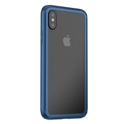 Apple iPhone X BASEUS Plast + TPU Kofanger Cover Blå