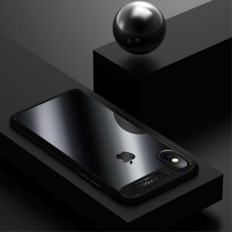 Apple iPhone X USAMS Mant klar Soft TPU Kanter Cover Sort
