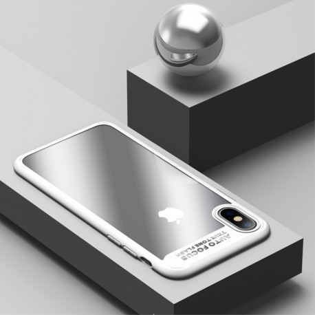 Apple iPhone X USAMS Mant klar Soft TPU Kanter Cover Hvid