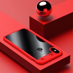 Apple iPhone X USAMS Mant klar Soft TPU Kanter Cover Rød