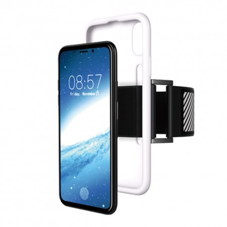 Apple iPhone X C-KU Sport Running Armband Cover Hvid