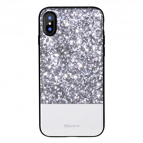Apple iPhone X DZGOGO Luxury Læderbelagt/TPU Frame Hybrid Cover Sort