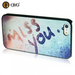 QYG - Miss You - Høj Kvalitet Plastik Cover  til iPhone 5/5S