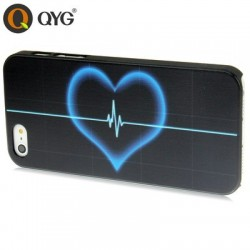 QYG - An Arrow Wear Heart - Høj Kvalitet Plastik Cover  til iPhone 5/5S