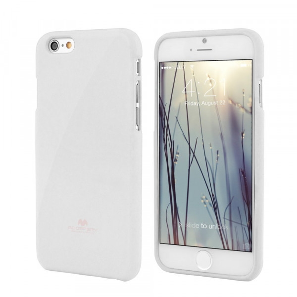 Jelly Shimmering Powder TPU Case til iPhone 6 (Hvid)