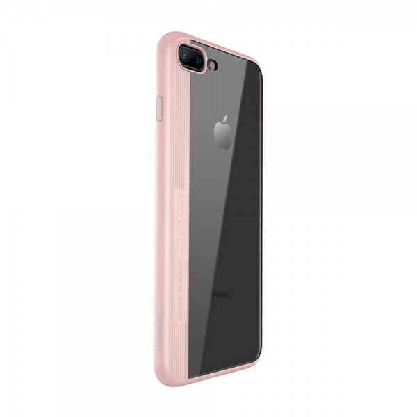 iPhone 8/7 Plus JOYROOM Phantom Series Acrylic + TPU Cover Lyserød
