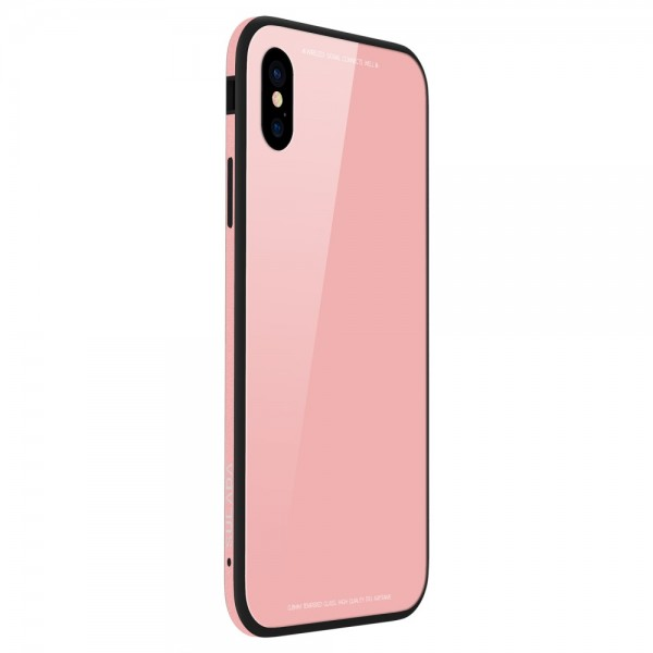 iPhone X SULADA Tempered Glass  Drop-proof Hybrid Cover Lyserød
