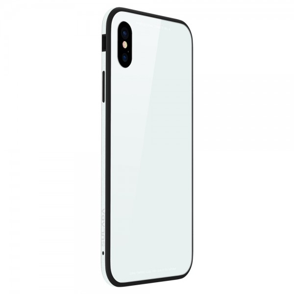 iPhone X SULADA Tempered Glass  Drop-proof Hybrid Cover Hvid