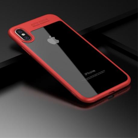 iPhone X PAKY Hybrid TPU Ramme + Klar Akryl Cover