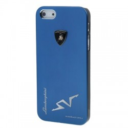 Lamborghini Metal Cover  til iPhone 5/5S - Blå