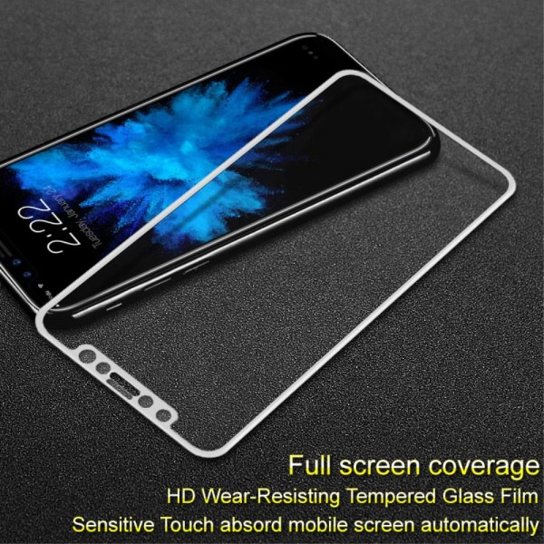 iPhone X IMAK Beskyttelsesglas Full Coverage - Hvid