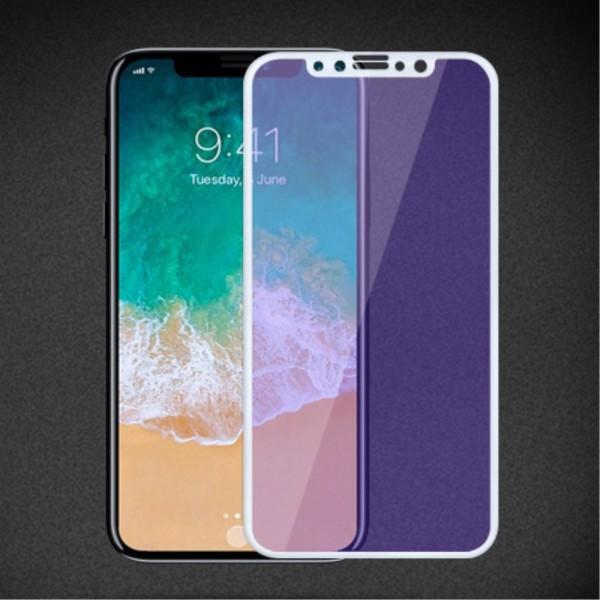 "iPhone X MOCOLO Beskyttelsesglas Anti Blue-Ray med ""Soft Edges"" - Hvid"