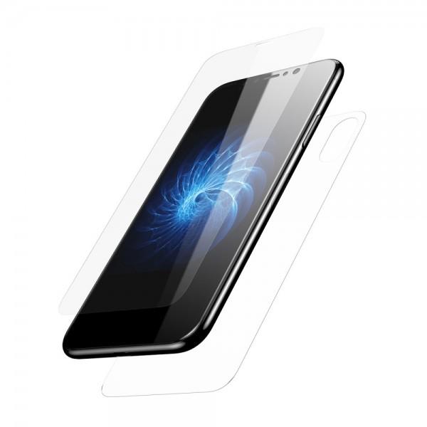 iPhone X BASEUS Beskyttelsesglas Sæt Gennemsigtig