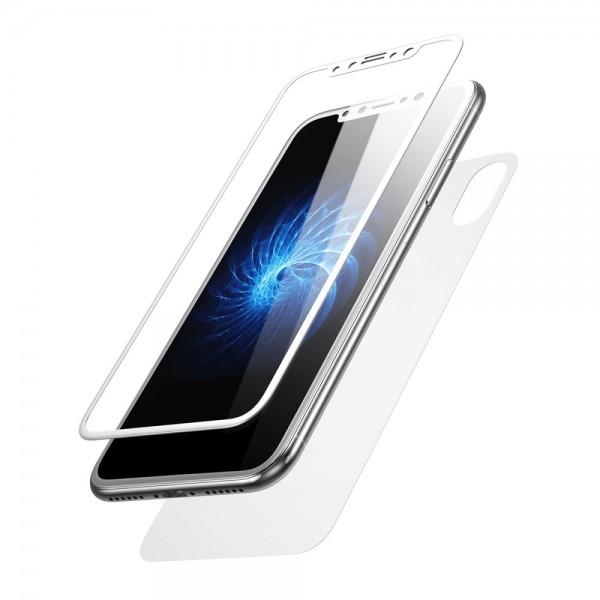 iPhone X BASEUS Beskyttelsesglas Sæt - Hvid