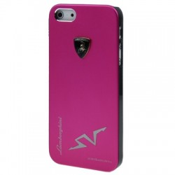 Lamborghini Metal Cover  til iPhone 5/5S - Pink