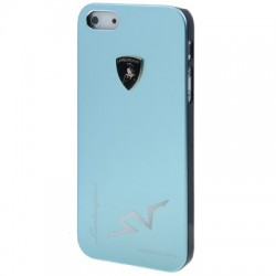 Lamborghini Metal Cover  til iPhone 5/5S - Lyseblå
