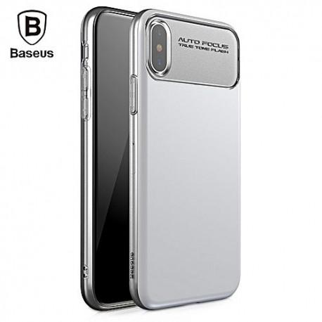 iPhone X BASEUS Slim Soft TPU Beskyttende Cover Hvid
