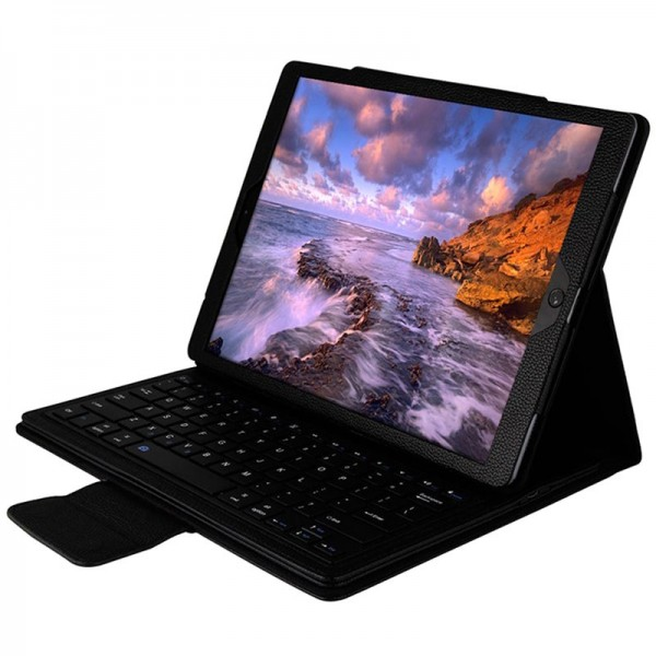 Apple iPad Air Dansk Bluetooth Tastatur med læder etui Sort