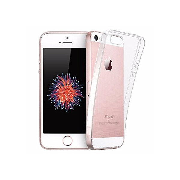 Apple iPhone SE/5S/5 - Rock 0.6mm Ultra Tynd TPU Slim Cover - Gennemsigtig