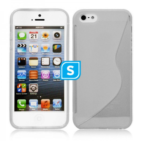 S-Formet TPU Cover til iPhone 5/5S - GRÅ