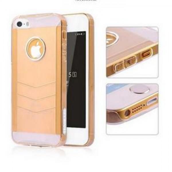 Baseus Ultra-tynd Gennemsigtig Plastik Cover til iPhone 5/5S (Hvid)