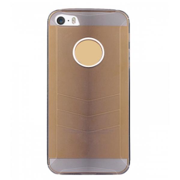 Baseus Ultra-tynd Gennemsigtig Plastik Cover til iPhone 5/5S (Sort)