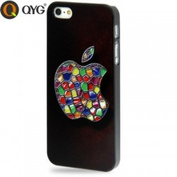 QYG Q-Case - Apple - Høj Kvalitet Plastik Cover til iPhone 5/5S - Sort