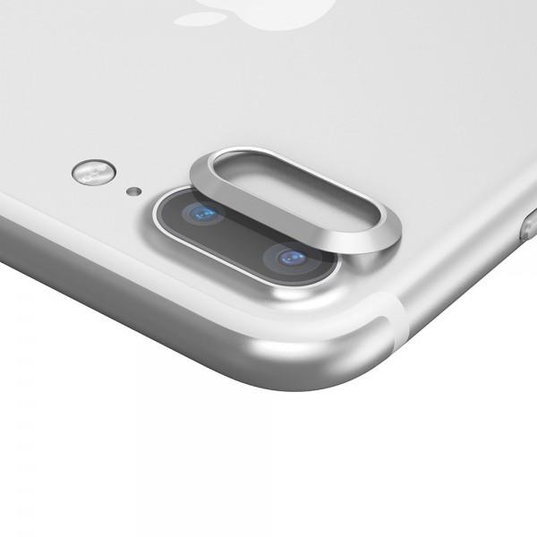 iPhone 7 Plus BASEUS Bagkameralinse Alu Beskyttelses Ring - Sølv