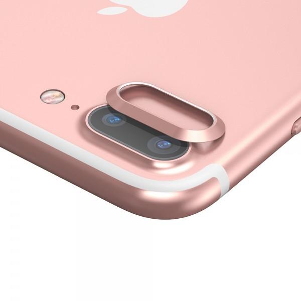 iPhone 7 Plus BASEUS Bagkameralinse Alu Beskyttelses Ring - Rosaguld