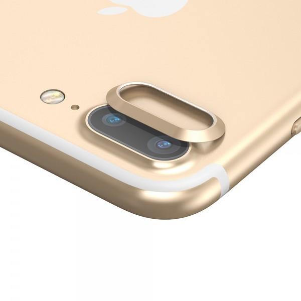 iPhone 7 Plus BASEUS Bagkameralinse Alu Beskyttelses Ring - Guld