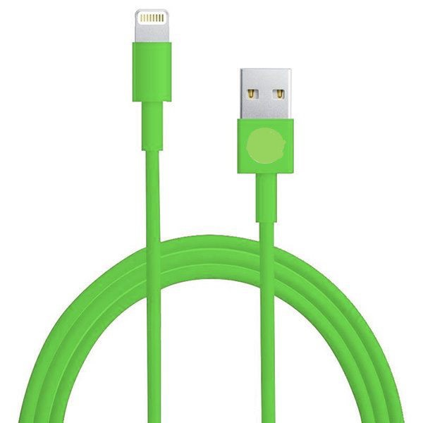 Lightning 8 Pin USB Sync Data / Opladerkabel (Grøn)