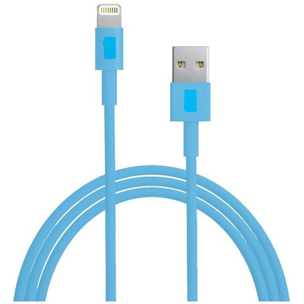 Lightning 8 Pin USB Sync Data / Opladerkabel (Blå)