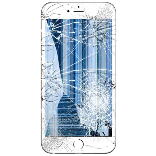Apple iPhone 6S Plus LCD samt Touch Glas Udskiftning Hvid