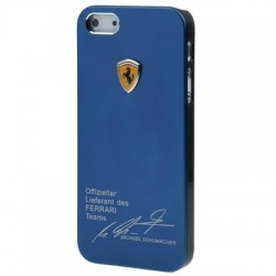 Ferrari Metal Cover  til iPhone 5/5S - Blå